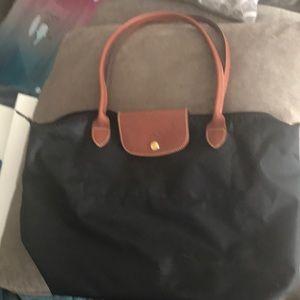 Longchamp purse with long handles
